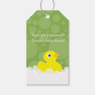 Rubber Ducky Gift Tag - Green