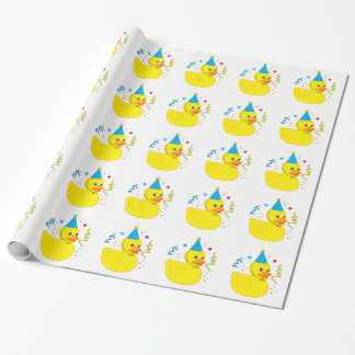 Rubber Ducky in Birthday Hat