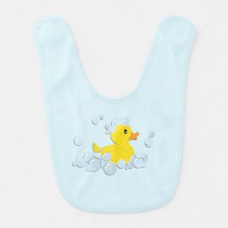 Rubber Ducky in Bubbles Blue Boys Bib