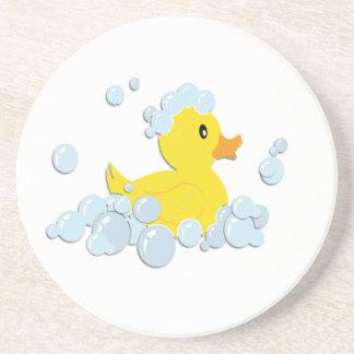 Rubber Ducky in Bubbles Coaster