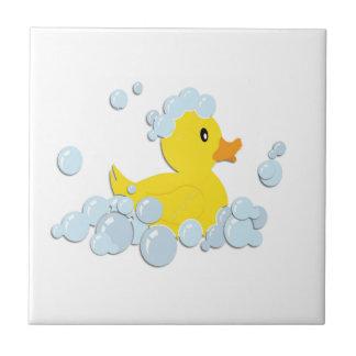 Rubber Ducky in Bubbles Tile