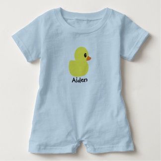 """Rubber Ducky""Personalized  Baby Romper Baby Bodysuit"