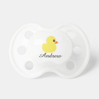 """""""Rubber Ducky"""" Personalized Pacifier"""