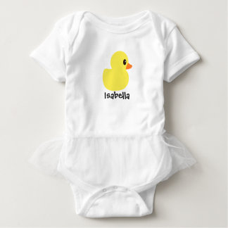 """Rubber Ducky"" Personalized Tutu Bodysuit"