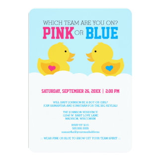 Browse Zazzle Gender Reveal invitations and customise with your own text, photos or designs.