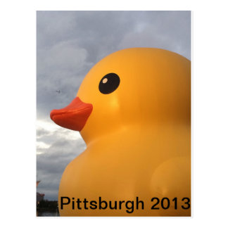 Rubber Ducky Pittsburgh Postcard