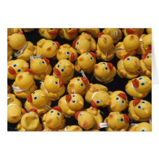 Rubber ducky race - Greeting Card