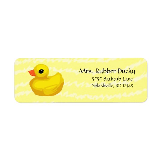 Rubber Ducky Return Address Labels (in yellow)