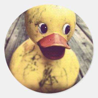 rubber ducky round sticker