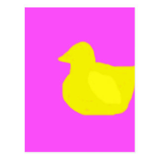 Rubber ducky silohuette postcard