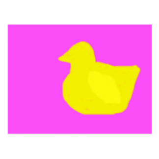 Rubber ducky silohuette post cards