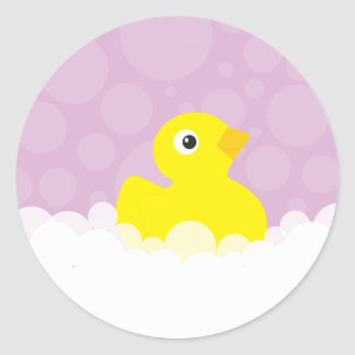 Rubber Ducky Stickers - Lilac