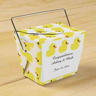 """Rubber Ducky"" Take-Out Favor Box Party Favour Boxes"