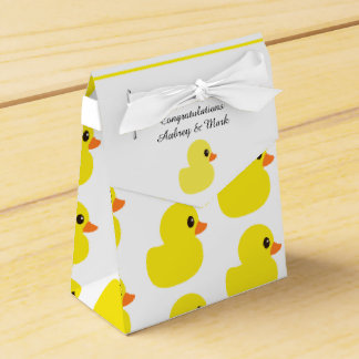 """""""Rubber Ducky"""" Tent Favor Box Favour Box"""