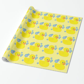 Rubber Ducky with Heart-Filled Bubbles