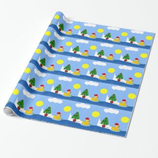 Rubber Ducky's Christmas Swim Wrapping Paper