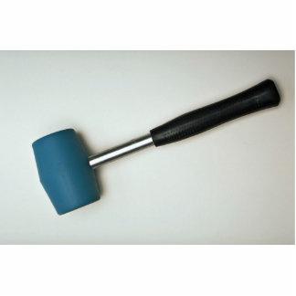Rubber hammer standing photo sculpture