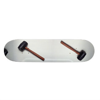 Rubber mallet for softer blow skate board