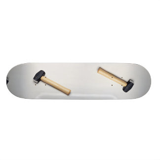Rubber mallets for a softer blow skate decks