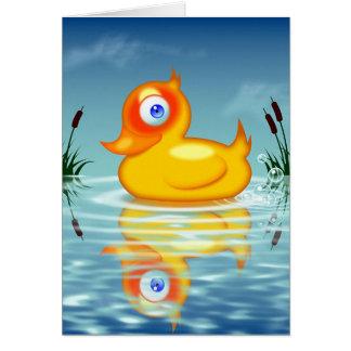 Rubber Quack Bubbles Card