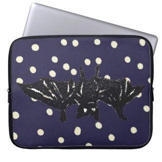 Rubber Stamp, Bat Laptop Computer Sleeve