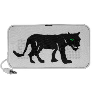 Rubber Stamp, Black Leopard Travel Speakers