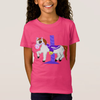 Rubber Stamp, Carousel Horse, In Color Tee Shirts