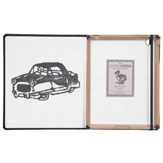 Rubber Stamp, Cute Tiny Car iPad Folio Case