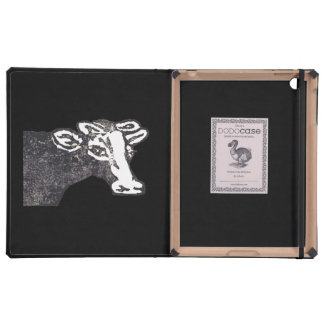 Rubber Stamp, Moo Cow iPad Folio Cover