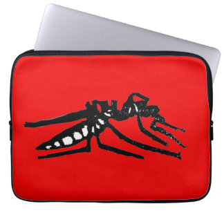 Rubber Stamped, Mosquito Laptop Sleeve