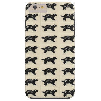 Rubber Stamped Turtle iPhone 6 Plus Case