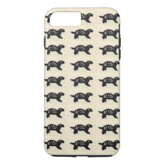 Rubber Stamped Turtle iPhone 7 Plus Case