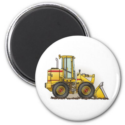 Rubber Tire Loader Construction Equipment 6 Cm Round Magnet