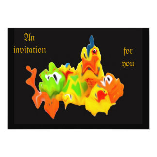 Rubber toy invitations