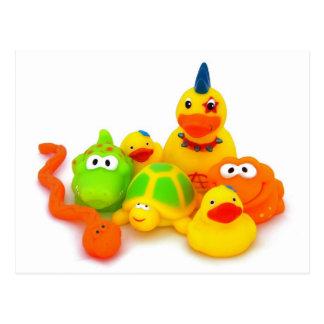 Rubber toys postcard
