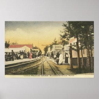 Rubberneck Row Railroad View Print