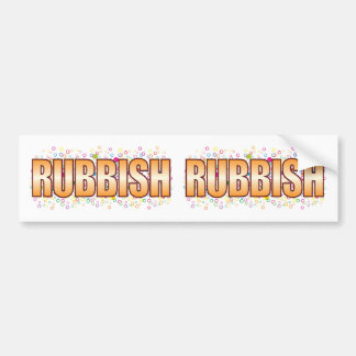 Rubbish Bubble Tag Bumper Sticker