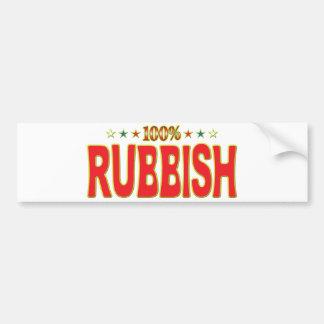 Rubbish Star Tag Bumper Stickers