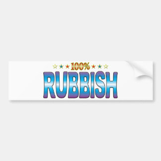 Rubbish Star Tag v2 Bumper Sticker
