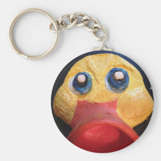 Rubby Ducky Basic Round Button Key Ring