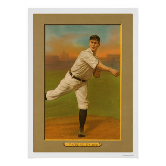 Rube Manning Yankees Baseball 1911 Poster