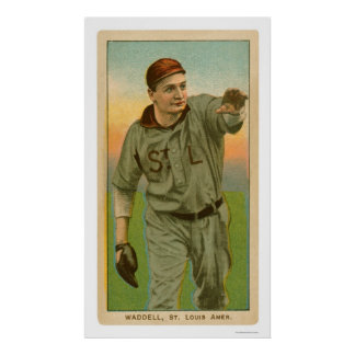 Rube Waddell Baseball 1909 Poster