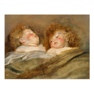 Rubens Two sleeping children CC0729 Postcard