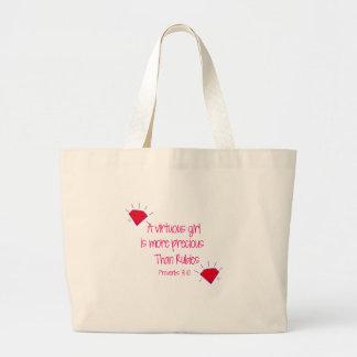 rubies large tote bag