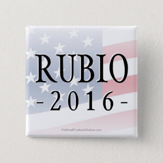 Rubio 2016, Marco for President 15 Cm Square Badge
