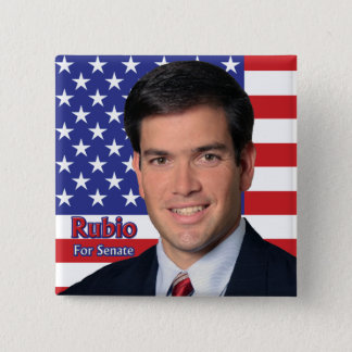 Rubio For Senate 15 Cm Square Badge