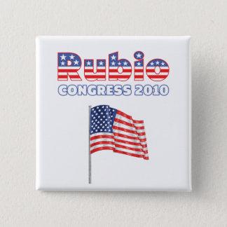 Rubio Patriotic American Flag 2010 Elections 15 Cm Square Badge