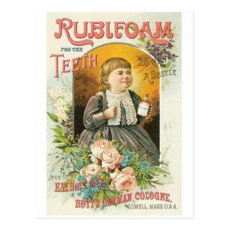 Rubleoam for the Teeth Postcard