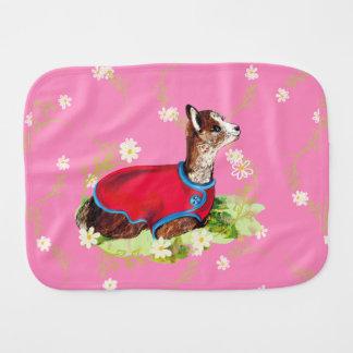 Ruby Alpaca Baby Burp Cloths