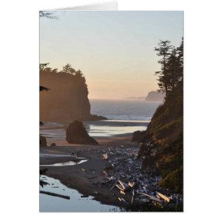 Ruby Beach on the Olympic Peninsula, WA Card